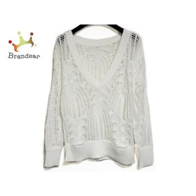 グレースコンチネンタル GRACE CONTINENTAL 長袖セーター サイズ36 S レディース 美品 白 新着 20200729