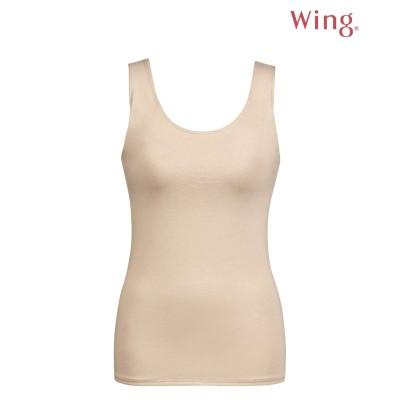 【Wing / Wacoal ウイング/ワコール】ラクしたいときに着るブラトップ【シンクロブラトップ】カップ付きノースリーブ(S) (ブラトップ・カップ付インナー)Camisole