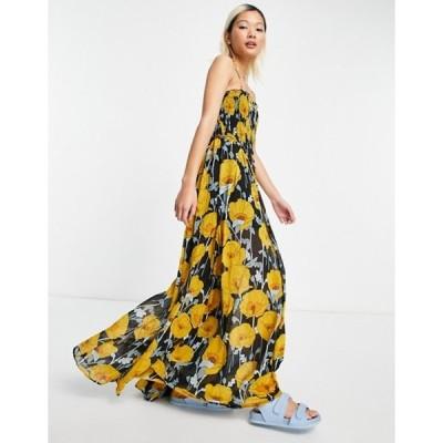 フリーピープル レディース ワンピース トップス Free People sophia jumpsuit with shirring in floral print