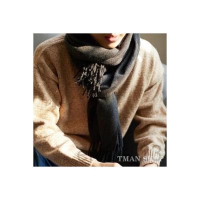 マフラーメンズレディース無地暖かいフェイクカシミヤ大判マフラーストールネックウォーマー通勤通学防寒厚手紳士おしゃれプレゼント冬物彼氏