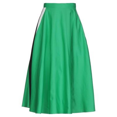 SUOLI 7分丈スカート グリーン 40 コットン 55% / リネン 45% 7分丈スカート
