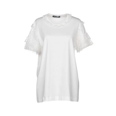 ドルチェ & ガッバーナ DOLCE & GABBANA T シャツ ホワイト 42 コットン 83% / レーヨン 9% / ナイロン 8% T