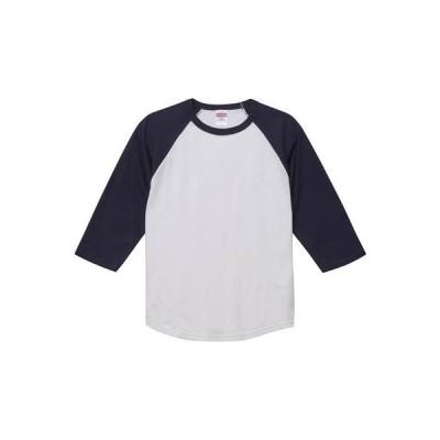 [ユナイテッド アスレ] 5.6ozラグラン3/4スリーブTシャツ メンズ 504501 ホワイト/ネイビー 日本 M (日本サイズM相当)