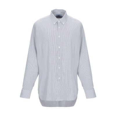 BLAZER CASTELNUOVO DI PORTO シャツ ブルー 45 コットン 75% / ナイロン 22% / ポリウレタン 3% シャツ