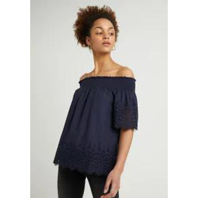 ONLY レディースシャツ ONLY ONLSHERY ANGLAISE OFF SHOULD - Blouse - night sky night sky