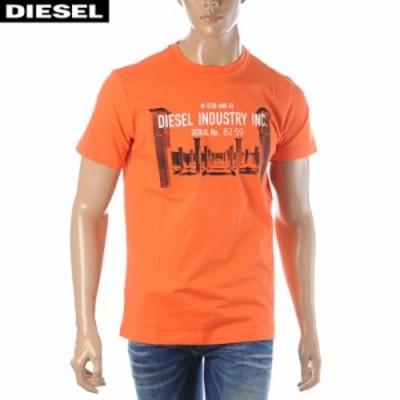 ディーゼル DIESEL クルーネックTシャツ 半袖 メンズ T-DIEGO-S13 00SEFY-0091A オレンジ