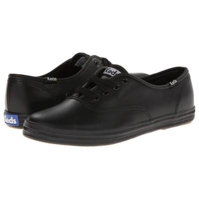 ケッズ Keds レディース スニーカー シューズ・靴 Champion-Leather CVO Black Leather