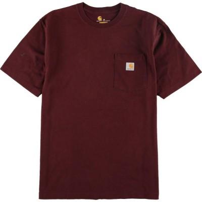 カーハート ワンポイントロゴポケットTシャツ L /eaa056614