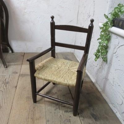 イギリス アンティーク 家具 キッズチェア ダイニングチェア 椅子 イス ラッシュ ディスプレイ 木製 英国 OTHERCHAIR 4961c