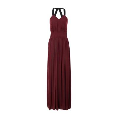 MORGAN DE TOI ロングワンピース&ドレス ボルドー 40 ポリエステル 100% ロングワンピース&ドレス