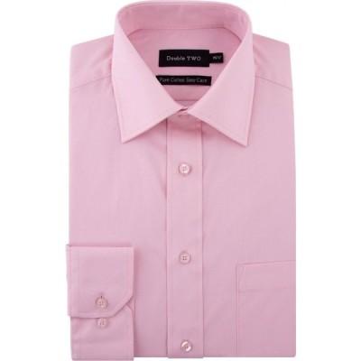ダブルTWO Double Two メンズ シャツ トップス King Size 100% Cotton Poplin Shirt Pink