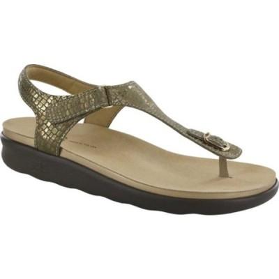 エスエーエス スニーカー シューズ レディース Marina Thong Sandal (Women's) Olive Gold Leather