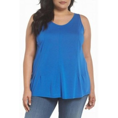 Nordstrom ノードストローム ファッション トップス Sejour NORDSTROM Womens Sleeveless Blue Size 2X Plus Tank Cami Top
