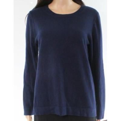 ファッション トップス J. Crew NEW Navy Blue Womens Medium M Long Sleeve Crewneck Sweater