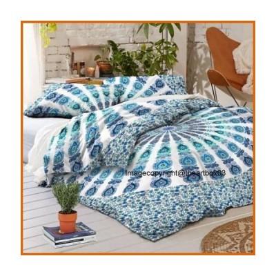 送料無料 The Art Box Flower Mandala Duvet Cover with Zipper Closure/Cotton Duvet Cover/Bedding Set/Cotton Comforter/Blanket/Duvet Covers