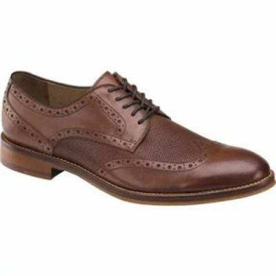 ジョンストン&マーフィー 革靴・ビジネスシューズ Conard Embossed Wingtip Oxford Oak Italian Calfskin