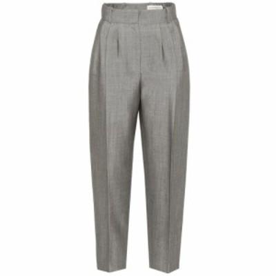 アレキサンダー マックイーン Alexander McQueen レディース ボトムス・パンツ Wool and mohair high-rise pants Silver