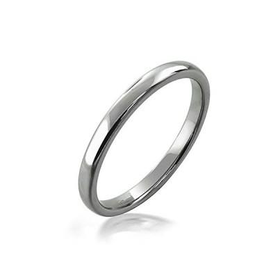 [ブリングジュエリー] チタン製 シンプル ミニマリスト 幅2ミリ 幅細 ユニセックス 男女兼用 結婚指輪 サイズ23号