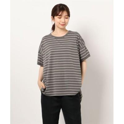 tシャツ Tシャツ ボーダープルオーバー