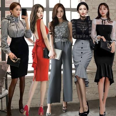 2020韓国ファッション  高品質 OL、正式な場合、礼装ドレス セクシーなワンピース、一字肩 二点セット、側開、深いVネック やせて見える、ハイウエスト ドレス マキシ 夏服リネンワンピース