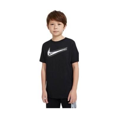 ナイキ(NIKE) ジュニア Tシャツ NIKE SPORTSWEAR ブラック/ホワイト DC7797 011 キッズ 子供用 半袖 トップス 練習 クラブ 移動着