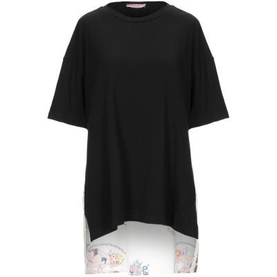 ROSE' A POIS T シャツ ブラック 38 コットン 94% / ポリウレタン 6% / ポリエステル T シャツ