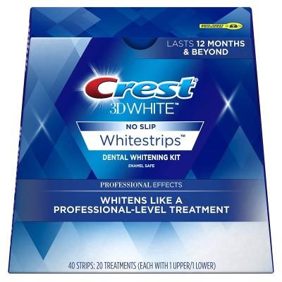 【送料無料】クレスト 3D ホワイトストリップス プロフェッショナル エフェクト 20回分/40枚入り 家で簡単ホームホワイトニング 米国正規品
