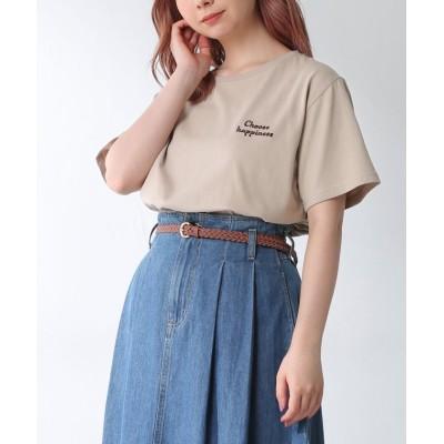 (Honeys/ハニーズ)ロゴTシャツ/レディース ベージュ