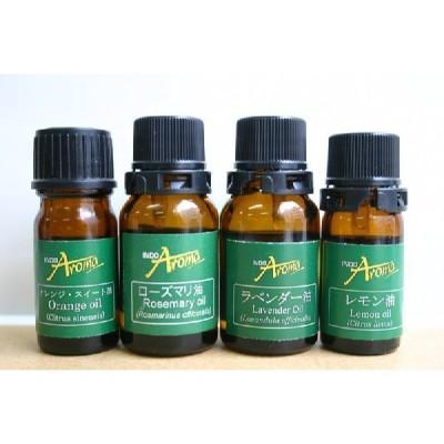 癒しのアロマセット:レモン精油-5ml,ローズマリー精油10ml,オレンジスイート精油-5ml,ラベンダー精油-10ml