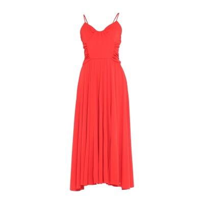 エムエスジーエム MSGM 7分丈ワンピース・ドレス レッド 40 レーヨン 100% 7分丈ワンピース・ドレス