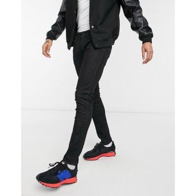 ジャック アンド ジョーンズ Jack & Jones メンズ ジーンズ・デニム ボトムス・パンツ Liam straight jeans in black ブラック