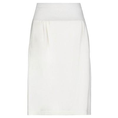 ファビアナフィリッピ FABIANA FILIPPI ひざ丈スカート アイボリー 42 バージンウール 75% / シルク 15% / カシミヤ 1