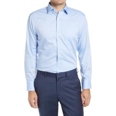 ノードストローム NORDSTROM MEN'S SHOP メンズ シャツ 3点セット ワイシャツ トップス 3-Pack Trim Fit Non-Iron Dress Shirts Blue Azurite