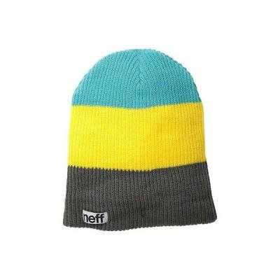 ネフ ヘッドウェア 帽子 ハット ビーニー ニット帽 Neff 帽子 キャップ ハット - Neff ビーニー - Trio (One サイズ, チャコール/イエロー)