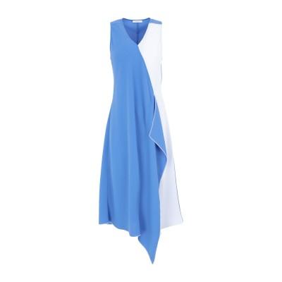 I BLUES 7分丈ワンピース・ドレス ブルー 40 ポリエステル 100% 7分丈ワンピース・ドレス