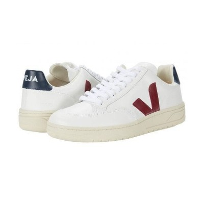 VEJA メンズ 男性用 シューズ 靴 スニーカー 運動靴 V-12 - Leather Extra White/Marsala/Nautico