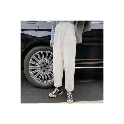 【送料無料】ハイウエスト ストレート 日系 コーデュロイパンツ 女 秋 韓国風 ファッション 新しい   364331_A63949-1691017