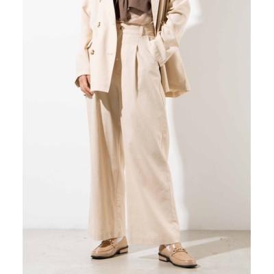 WEGO / WEGO/【セットアップ対応商品】リネンブレンドタックストレートパンツ WOMEN パンツ > スラックス
