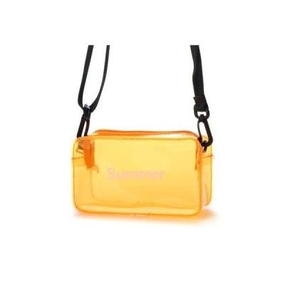 プライベートビーチ privatebeach PVCポーチ (オレンジ)