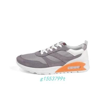 メンズランニングシューズスニーカーメンズメッシュ軽量靴シューズジョギングランニングウォーキングアウトドア通気性運動靴