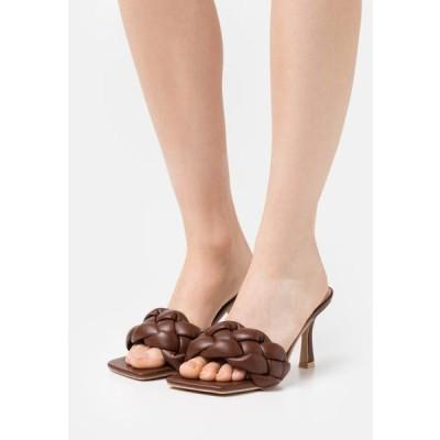 レディース 靴 シューズ SANDRA - Heeled mules - brown