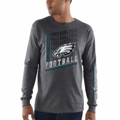 Majestic マジェスティック スポーツ用品  Majestic Philadelphia Eagles Heathered Charcoal Dual Threat Long Sleeve T-