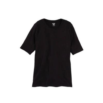 キム ロジャース レディース Tシャツ トップス Women's Perfectly Soft Elbow Sleeve Crew Neck T-Shirt