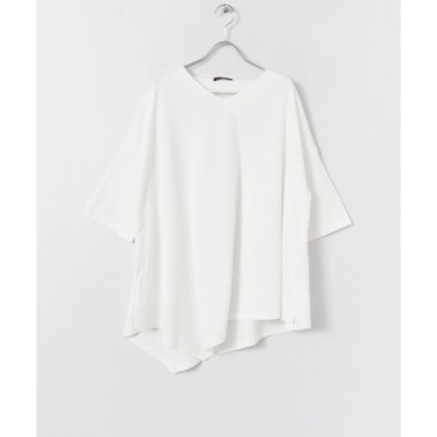 URBAN RESEARCH ITEMS / アーバンリサーチ アイテムズ Vネックアシンメトリーロングカットソー