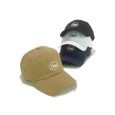 キャップ 帽子 サークルロゴ刺繍ツイルローキャップ ヤング