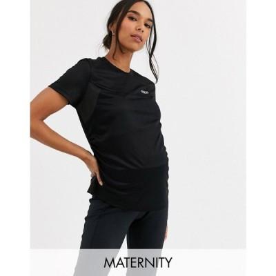エイソス ASOS 4505 レディース Tシャツ マタニティウェア トップス Maternity icon train t-shirt ブラック