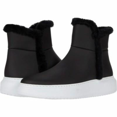 アクアタリア Aquatalia レディース スニーカー シューズ・靴 Larisa Black/Black Matte Leather/Shearling