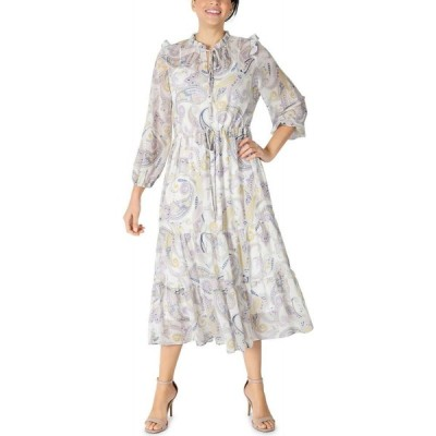 ジュリア ジョーダン julia jordan レディース ワンピース ミドル丈 ワンピース・ドレス Printed Chiffon Midi Dress Ivory/multi