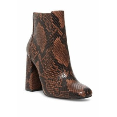 スティーブ マデン レディース ブーツ・レインブーツ シューズ Trix Sip Toe Snake Skin High Heel Dress Boots Brown Snake