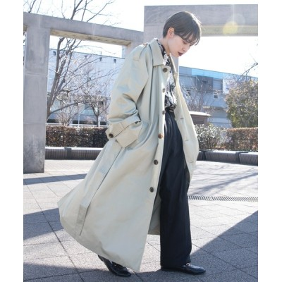kutir / 【kutir 2021ss】オーバーステンカラーコート WOMEN ジャケット/アウター > ステンカラーコート